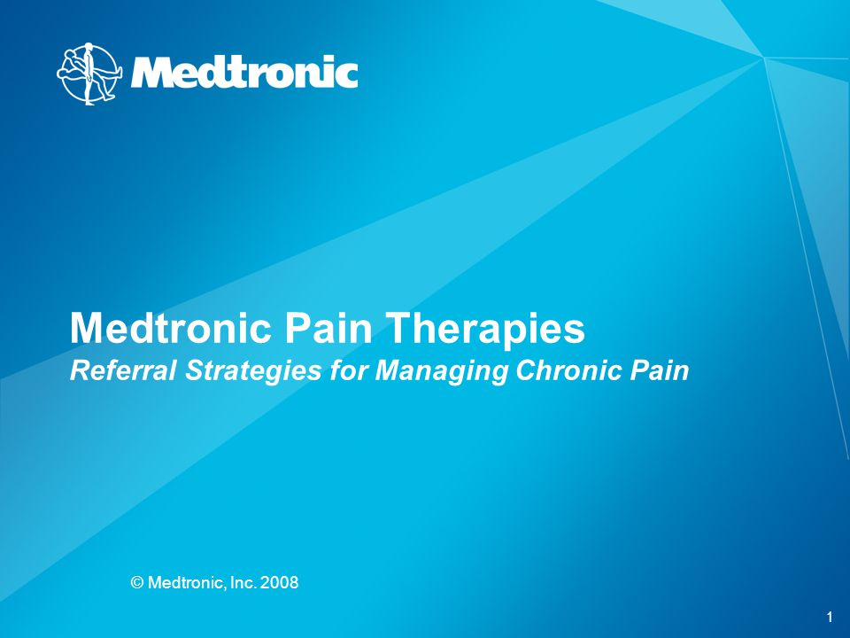 Medtronic Pain Therapies Referral Strategies for Managing