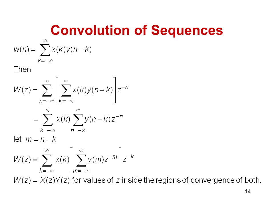 Convolution of Sequences
