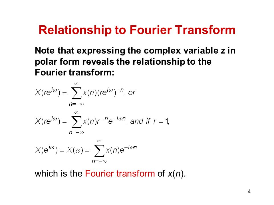 Relationship to Fourier Transform