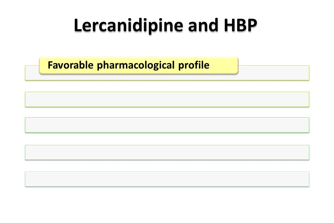 Lercanidipine and HBP Favorable pharmacological profile