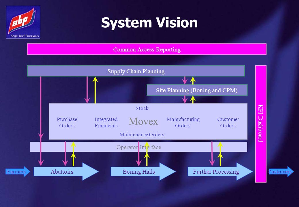 System Vision Movex Common Access Reporting Supply Chain Planning