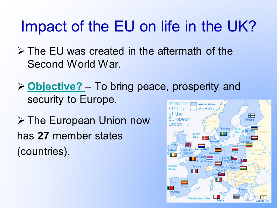 Impact of the EU on life in the UK