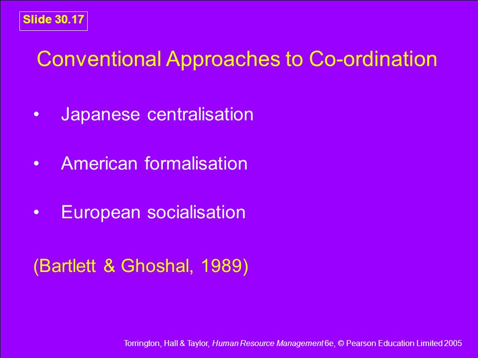 Conventional Approaches to Co-ordination