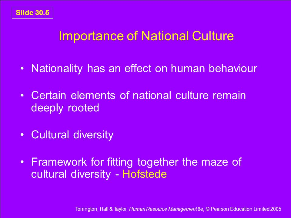 Importance of National Culture