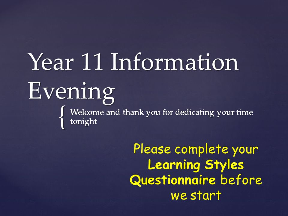 Year 11 Information Evening