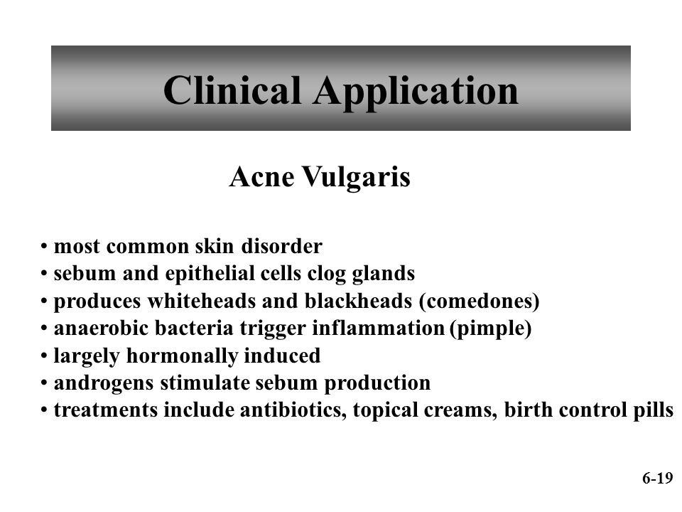 Clinical Application Acne Vulgaris most common skin disorder