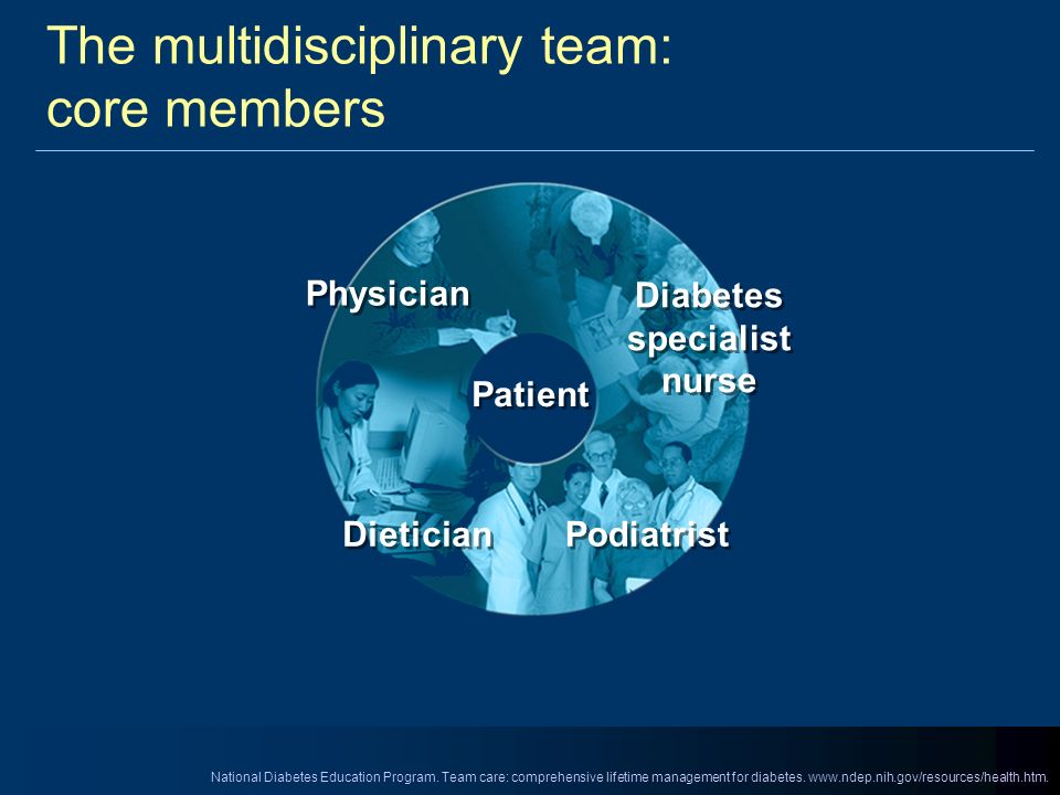 The multidisciplinary team: core members