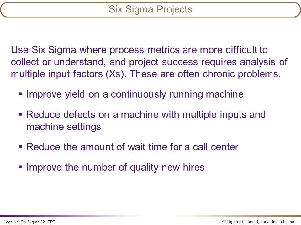 Lean vs  Six Sigma Lean vs  Six Sigma  - ppt video online