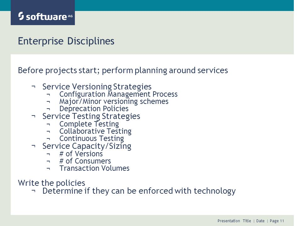 Enterprise Disciplines