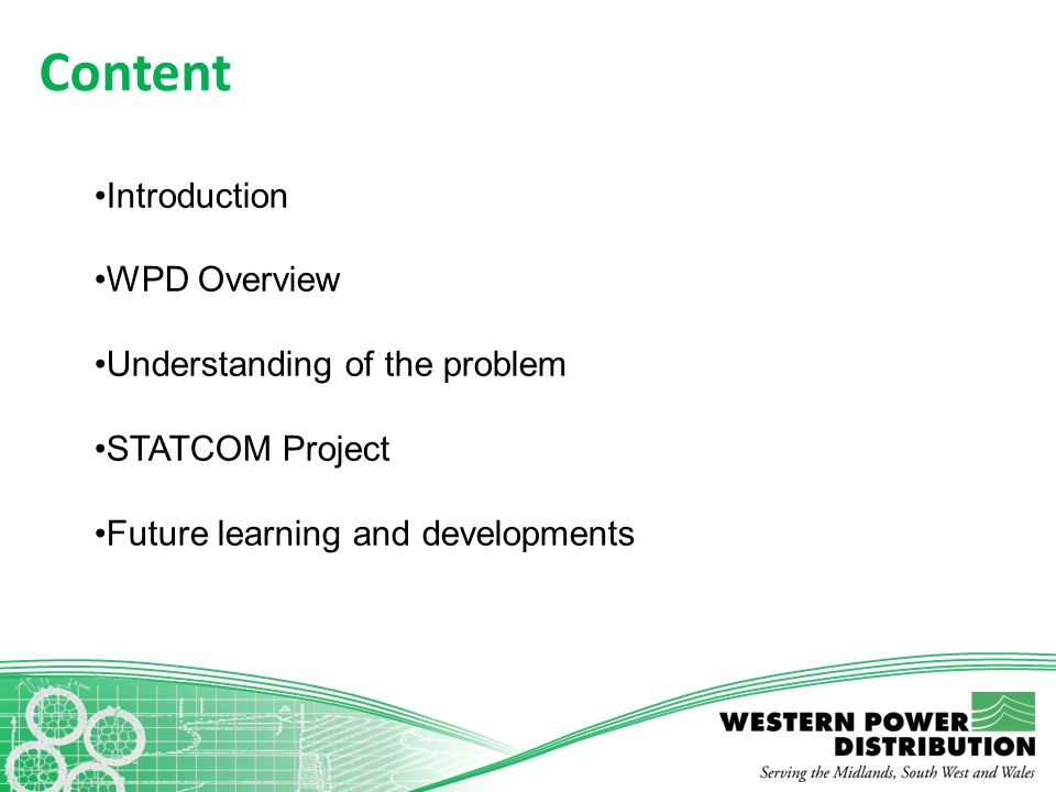 Content Introduction WPD Overview Understanding of the problem