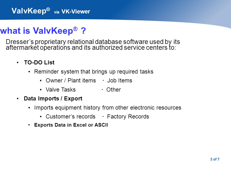 ValvKeep® via VK-Viewer - ppt download