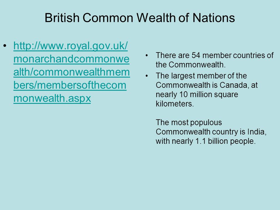 British Common Wealth of Nations