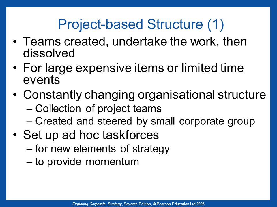 Project-based Structure (1)