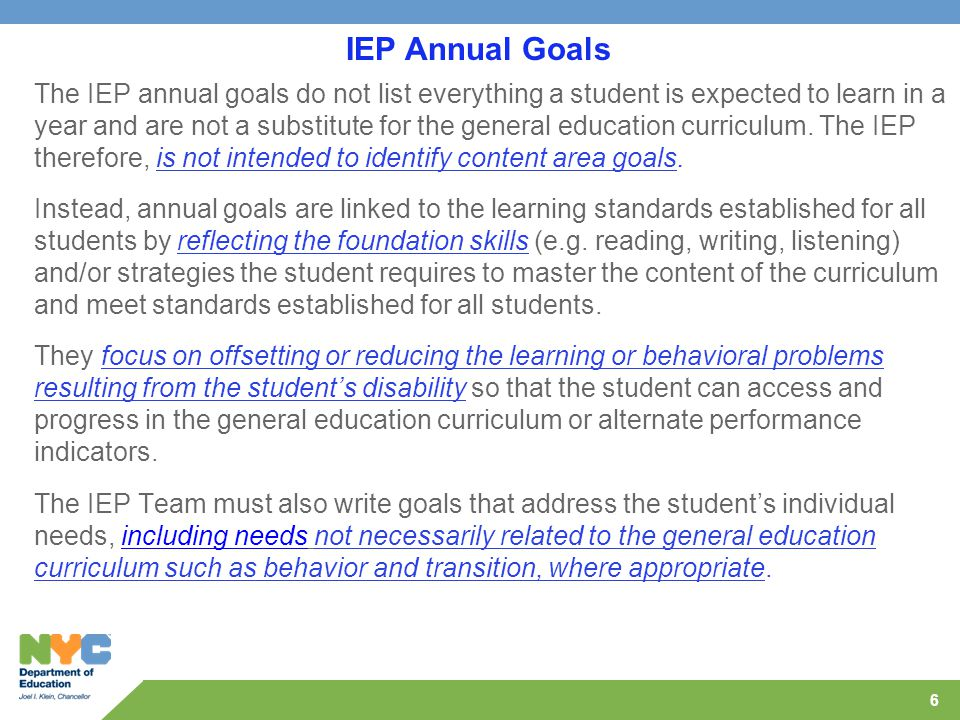 How To Write Iep Goals Guide For >> The Iep Specialists At The Brooklyn Integrated Service Center Ppt