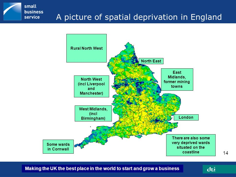 A picture of spatial deprivation in England