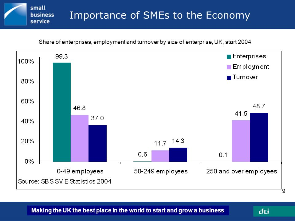 Importance of SMEs to the Economy