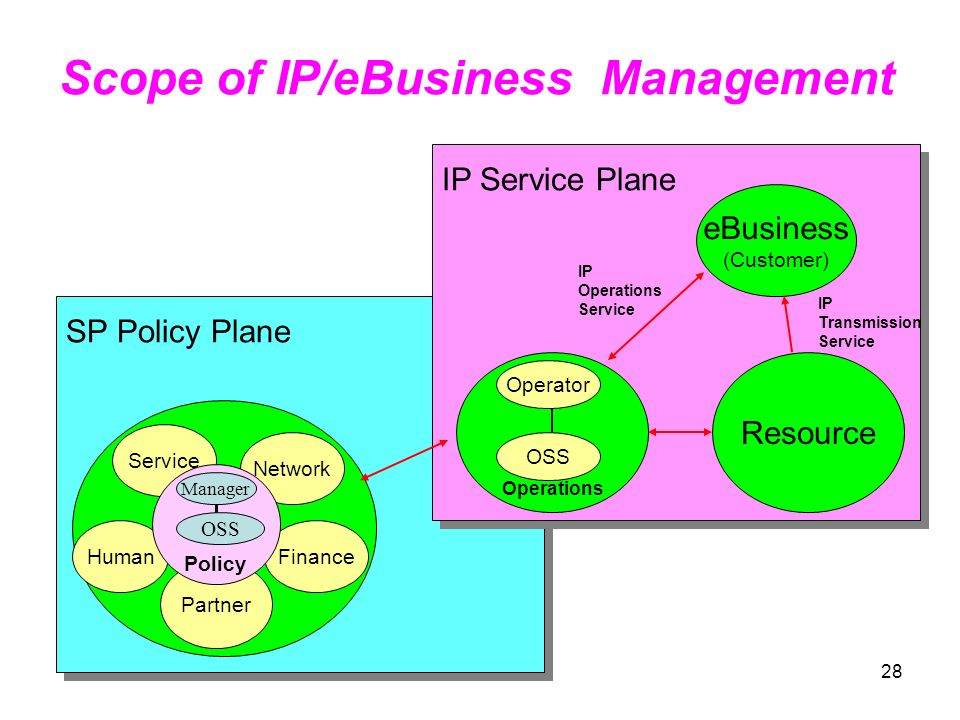 Scope of IP/eBusiness Management