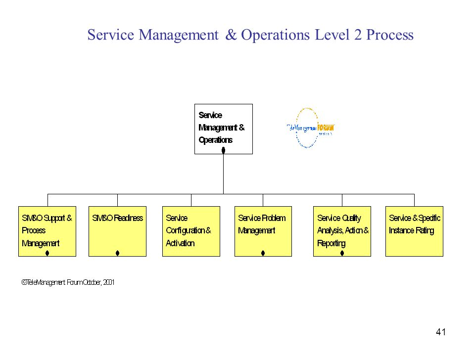 Service Management & Operations Level 2 Process