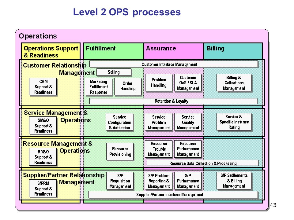 Level 2 OPS processes