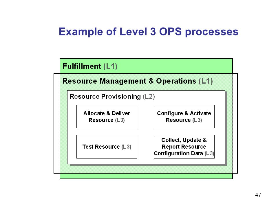 Example of Level 3 OPS processes