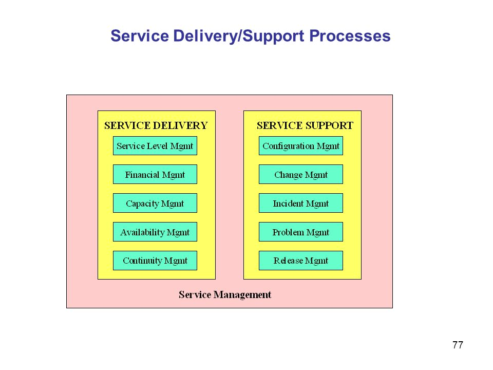 Service Delivery/Support Processes