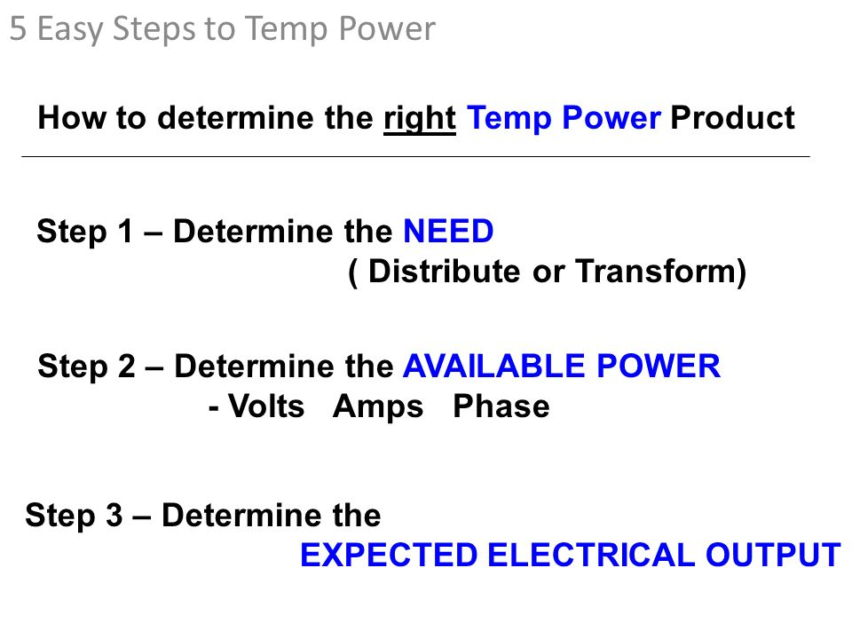 5 Easy Steps to Temp Power