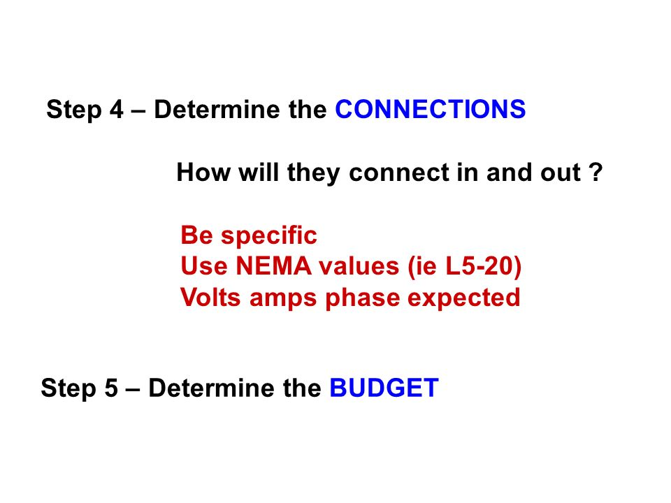 Step 4 – Determine the CONNECTIONS