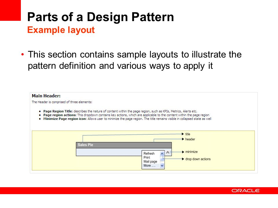Parts of a Design Pattern Example layout