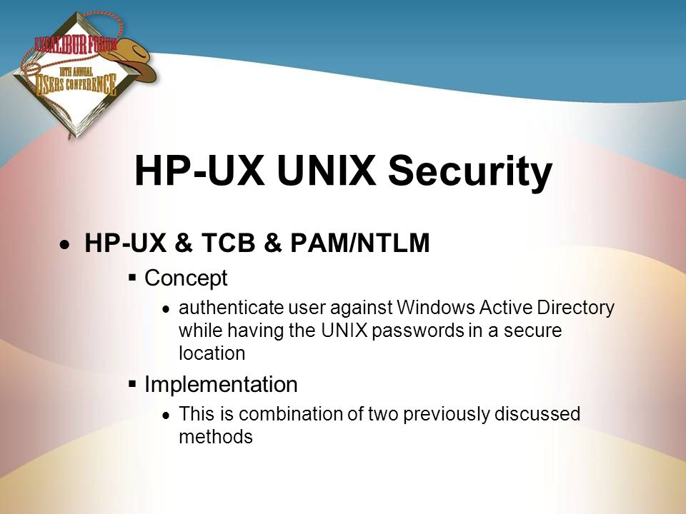 HP-UX UNIX Security HP-UX & TCB & PAM/NTLM Concept Implementation