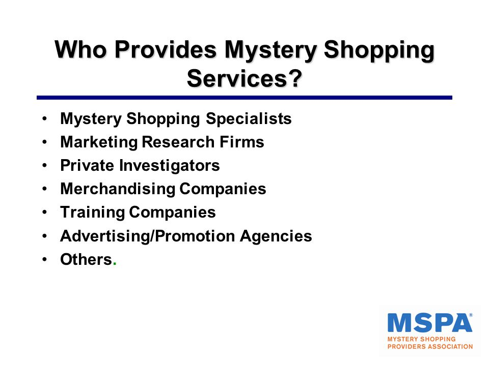 Who Provides Mystery Shopping Services