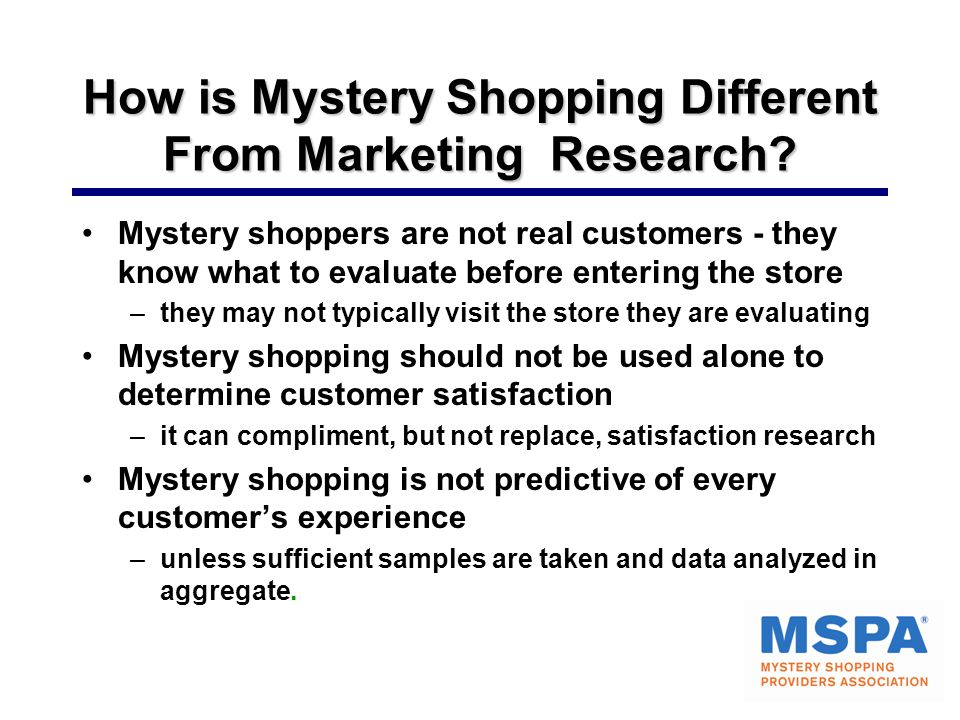 How is Mystery Shopping Different From Marketing Research