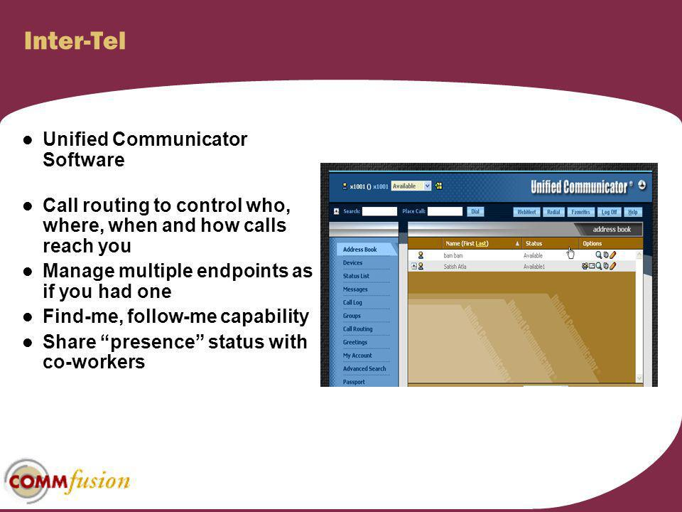 Inter-Tel Unified Communicator Software