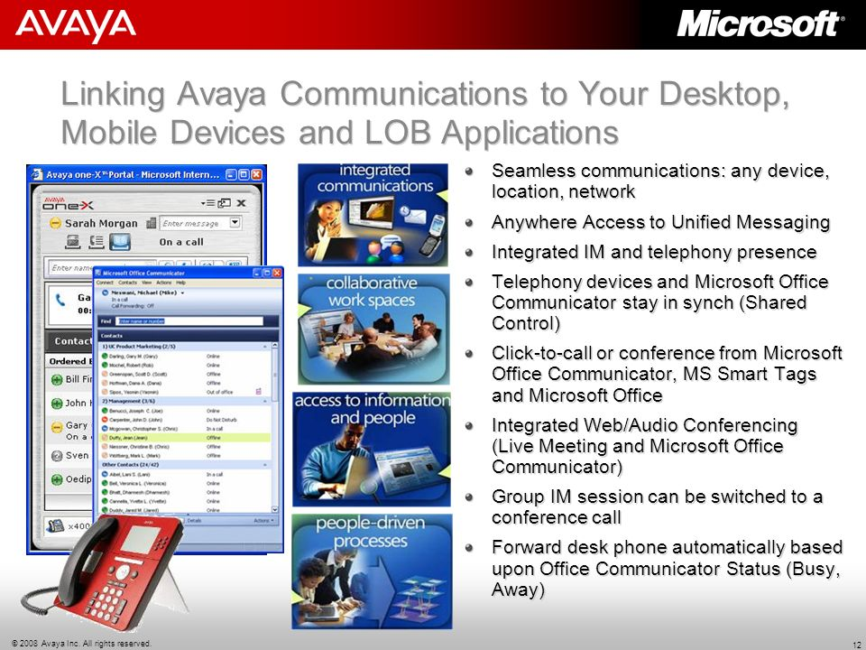 Linking Avaya Communications to Your Desktop, Mobile Devices and LOB Applications