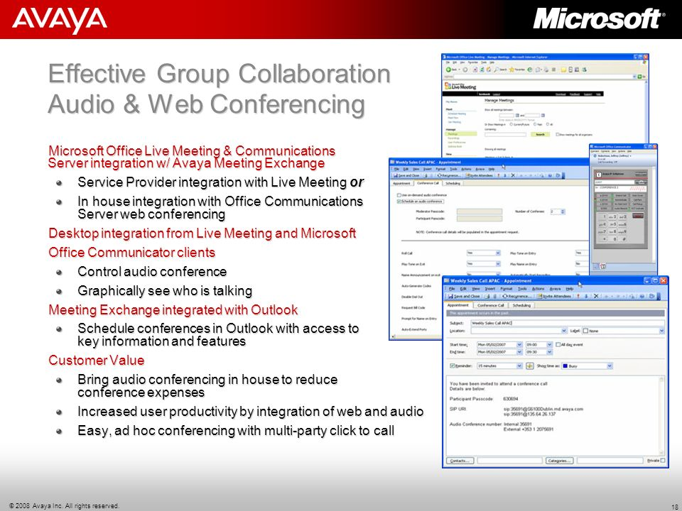 Effective Group Collaboration Audio & Web Conferencing