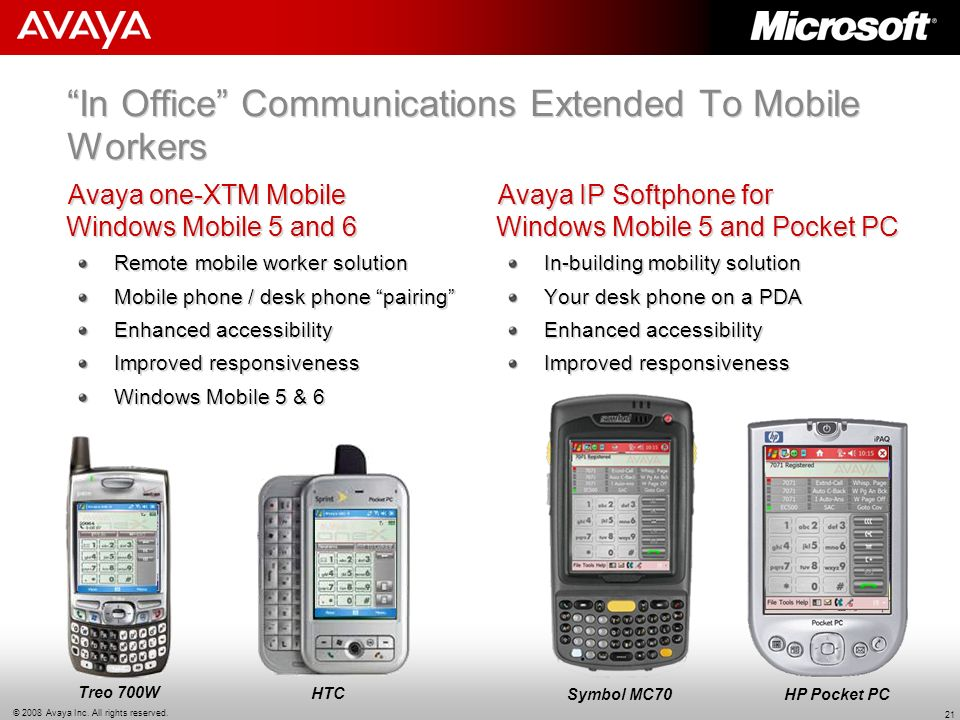 In Office Communications Extended To Mobile Workers