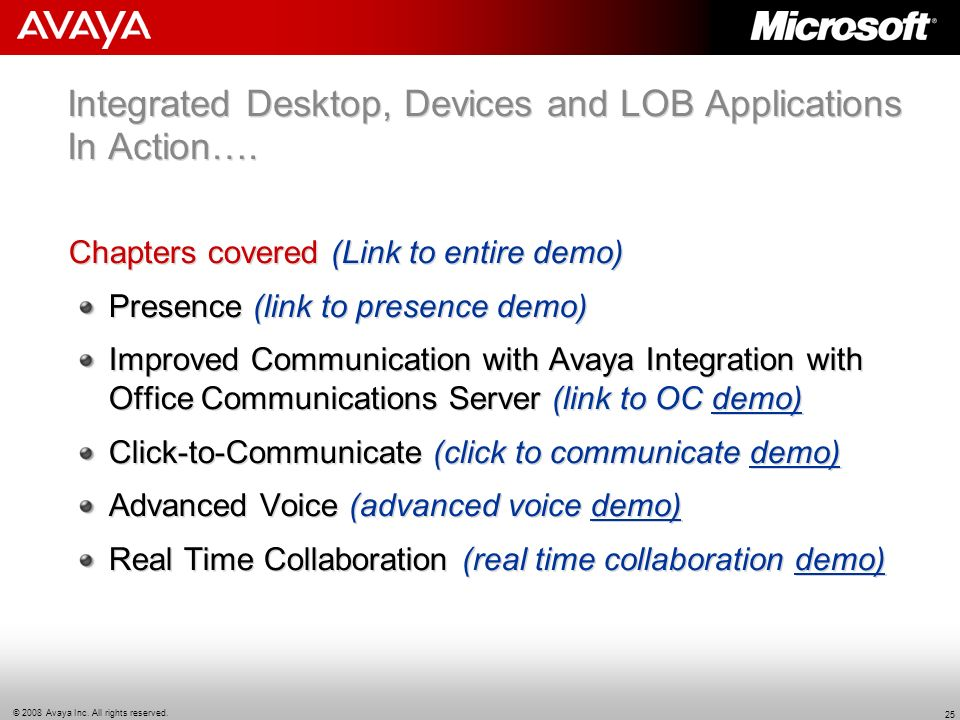Integrated Desktop, Devices and LOB Applications In Action….
