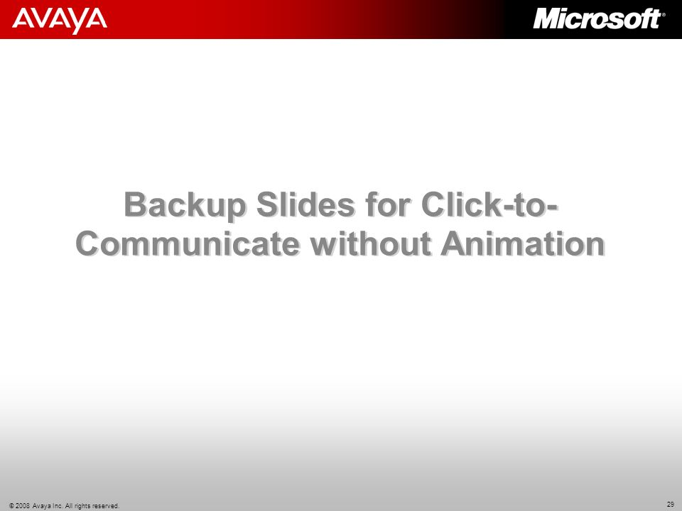Backup Slides for Click-to-Communicate without Animation