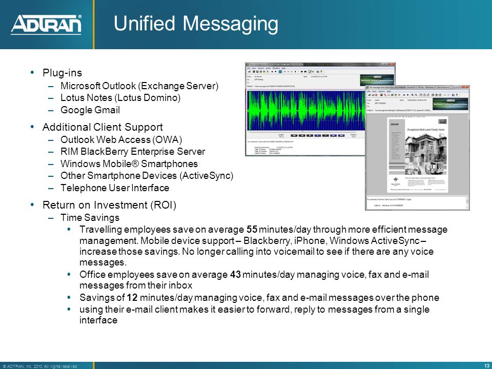 Unified Messaging Plug-ins Additional Client Support