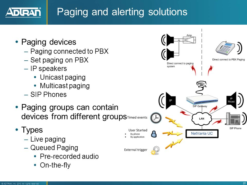 Paging and alerting solutions