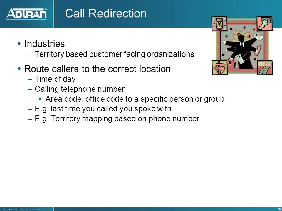 Call Redirection Industries Route callers to the correct location