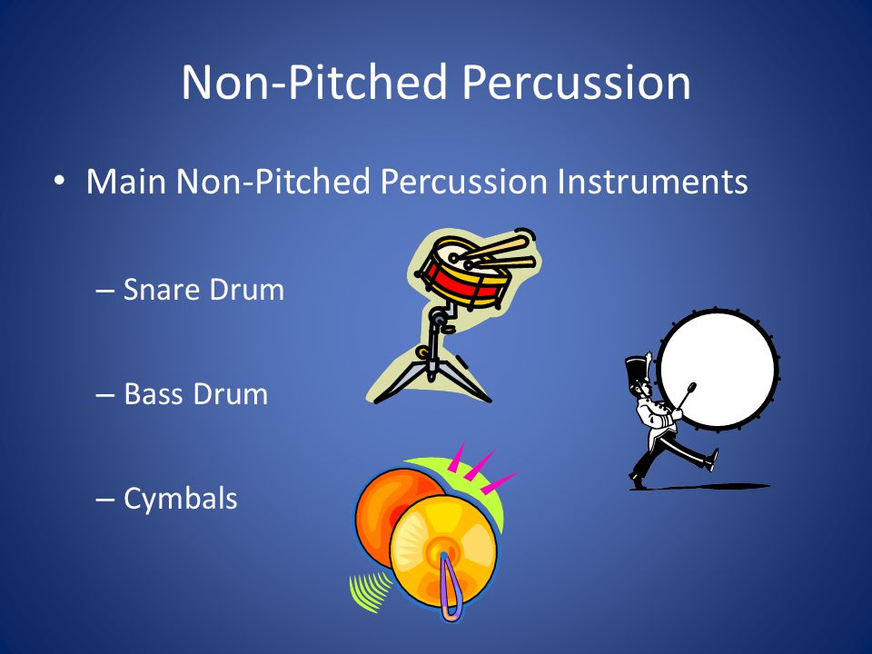 non pitched percussion instruments