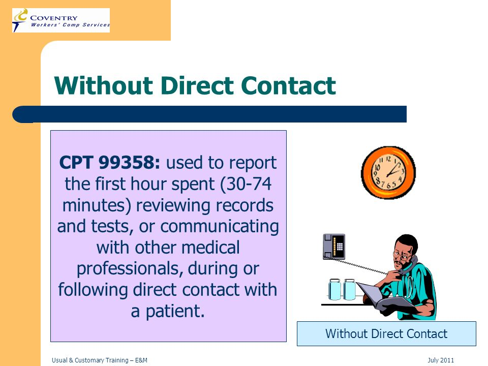 Without Direct Contact
