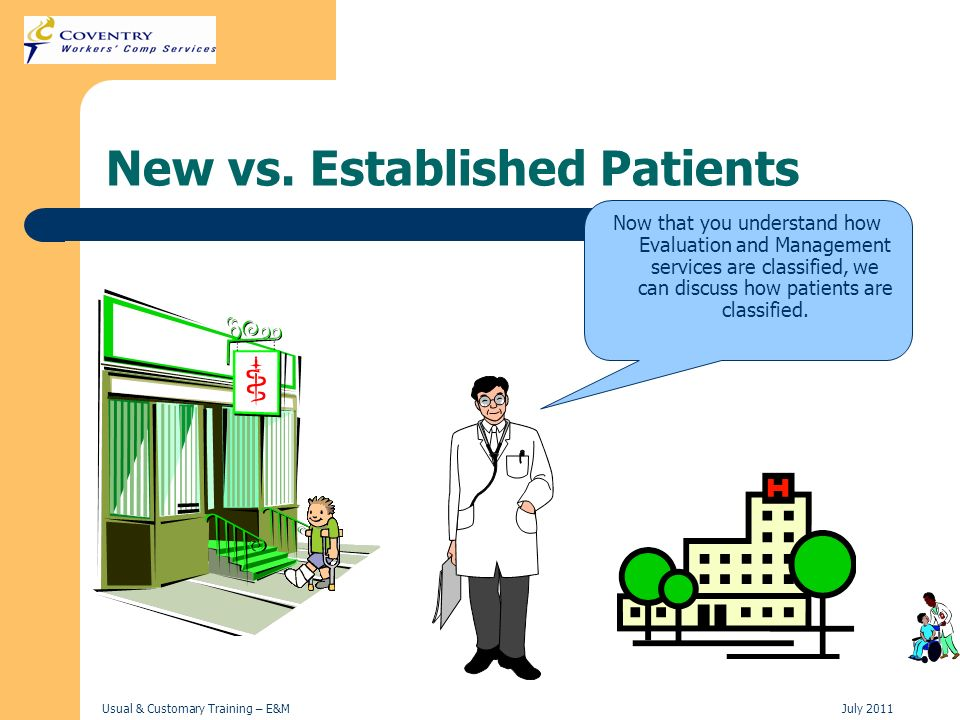 New vs. Established Patients