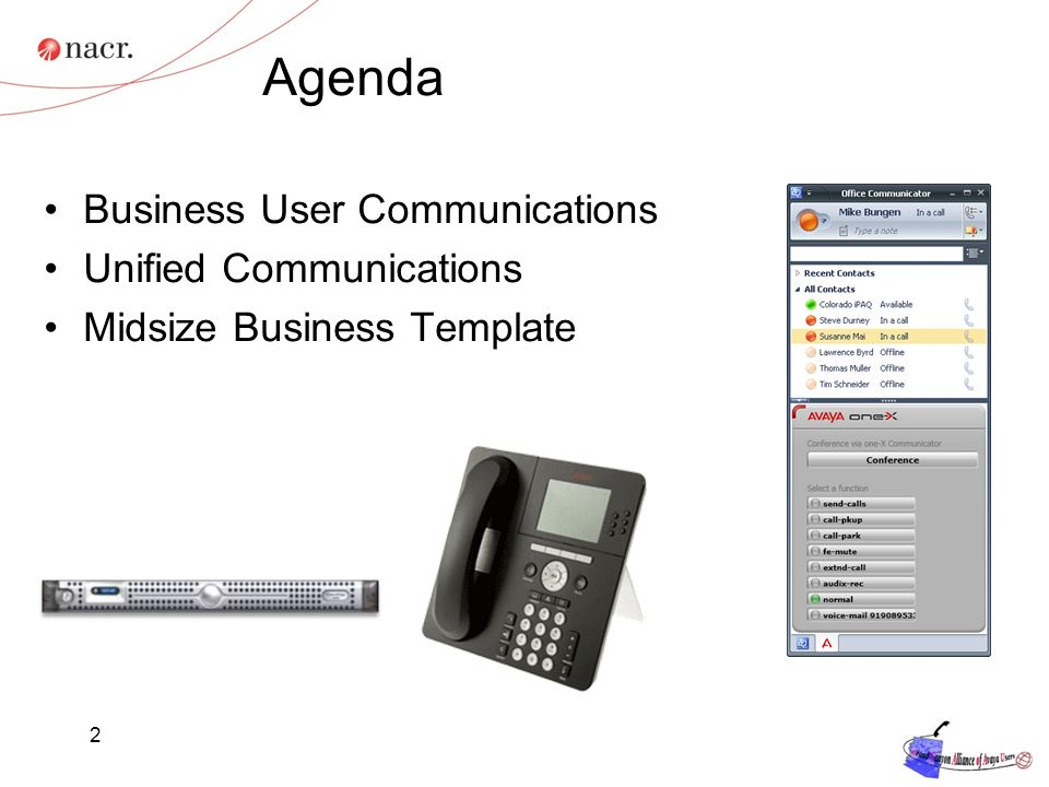 Agenda Business User Communications Unified Communications
