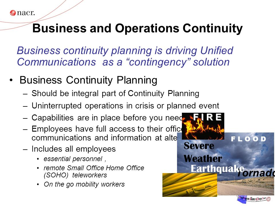 Business and Operations Continuity