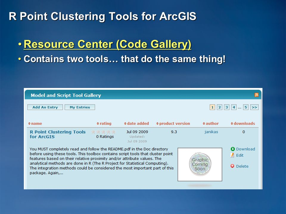 R Point Clustering Tools for ArcGIS
