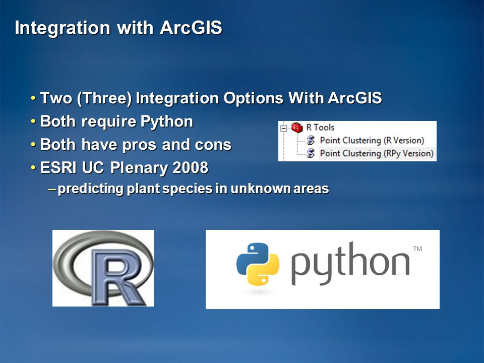 Integration with ArcGIS