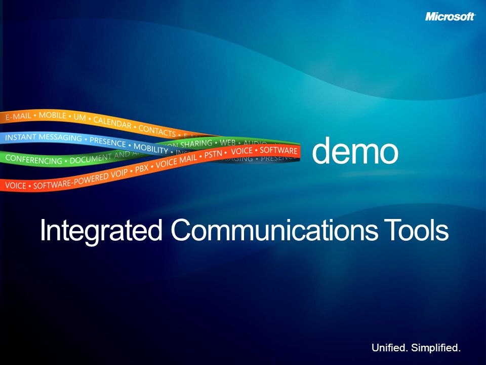 Integrated Communications Tools