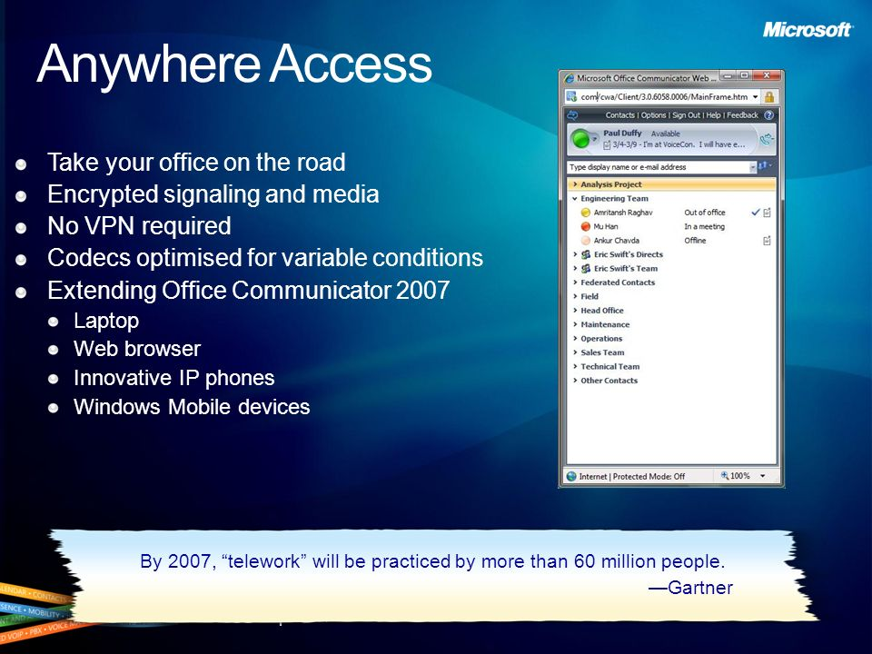Anywhere Access Take your office on the road
