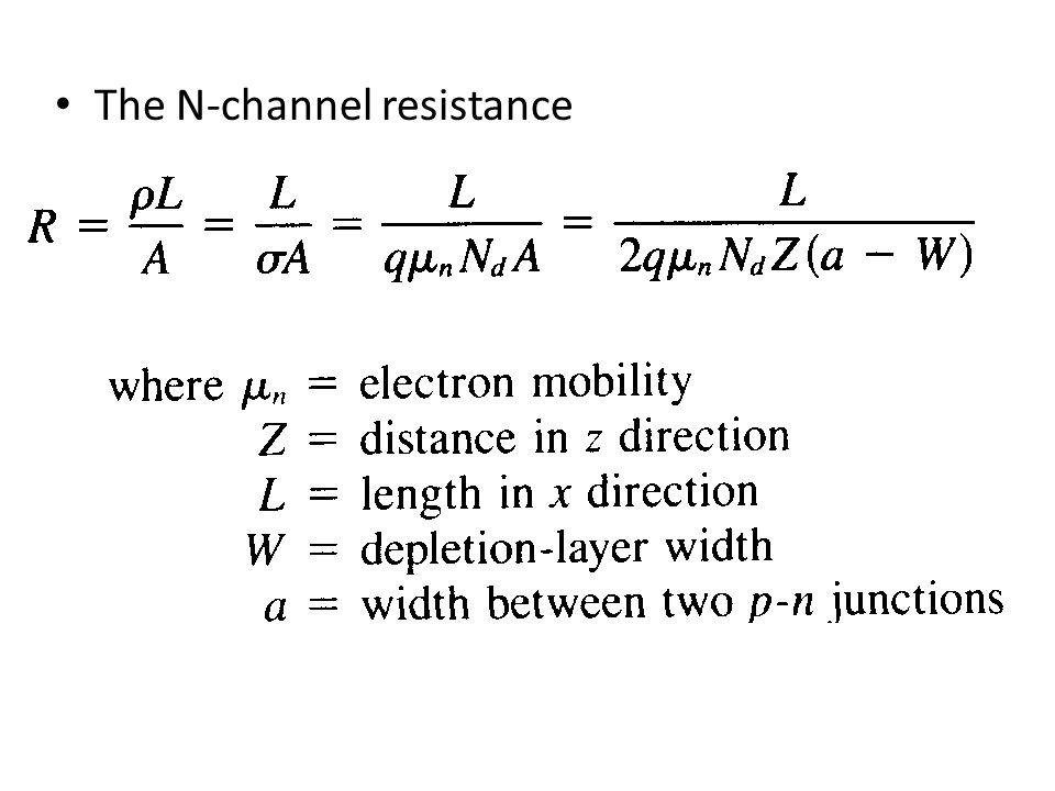 The N-channel resistance
